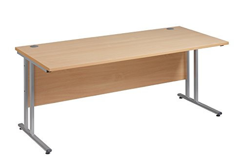 Cheap BiMi Slimline 1400mm x 600mm Rectangular Straight Desk in Beech