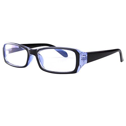 Milya Unisex Transparente Anti-UV-Anti-Müdigkeit Brille Blendschutz Brillen Sicherheitsbrille für Computer Telefon Tablets Blau Schwarz