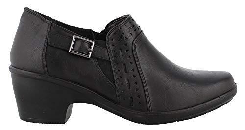 Easy Street Frauen Flache Sandalen Schwarz Groesse 7 US /38 EU Tan Patent Leather Pumps
