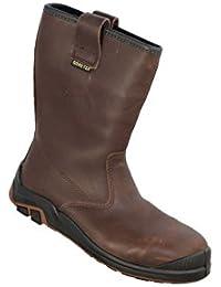 Jallatte jalbode jj731–Botas de seguridad S3Gore-Tex SRC Puntera entresuela de acero de piel color marrón
