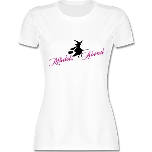 Typisch Frauen - Mädelsabend - XXL - Weiß - L191 - Damen T-Shirt ()