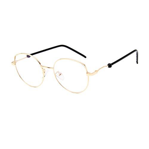 GUKOO klarem Brillenglas Katzenohren Brille Unisex Übergroßer metall nicht verschreibungspflichtige Frame