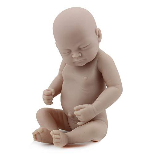 NACHEN Baby Dolls Handmade Soft Silicone Vinyl Realistic Lifelike Nude Girl Doll 28cm,color1,28cm (Silicone Baby Doll Mädchen)