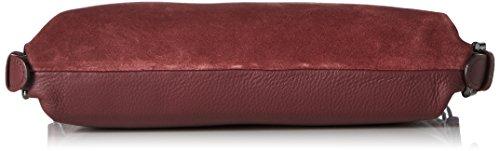 Strenesse Damen Bag Kaito Schultertasche, 7x20x22 cm Rot (Melanzane)