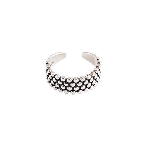 WHX DamenRingeEdelstahl,Damen Ring aus Sterlingsilber Wave Thai Silber Schmuck Für alle Gelegenheite