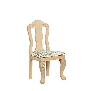 MELODY Jane Casa De Muñecas Silla Sin Brazos Sin Terminar madera en Bruto miniatura comedor muebles oscuro