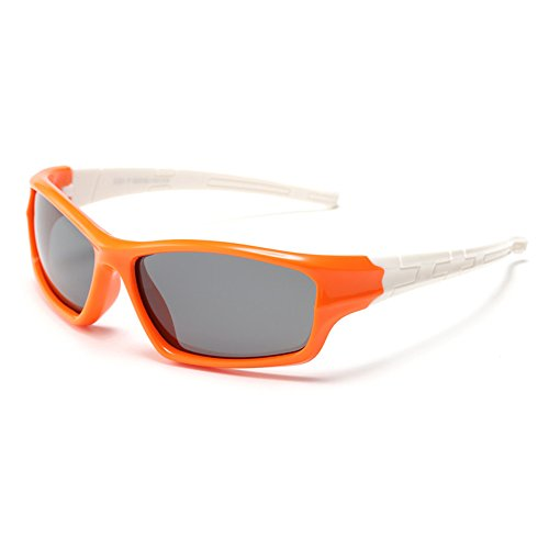 Yiph-Sunglass Sonnenbrillen Mode Stilvolle Kids Polarized Sports Sonnenbrille mit Etui UV-Schutz Jungen und Mädchen im Alter von 3 bis 12 Jahren (Farbe : C8)