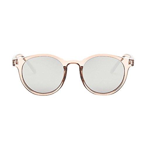 LLonGao Frauen-Mann-Weinlese-Sonnenbrille-Retro- Kreis-Rahmen-Eyewear-Mode Loop Sonnenbrillenhalte Casual Jeden Tag Sonnenbrille Klappbar Brille