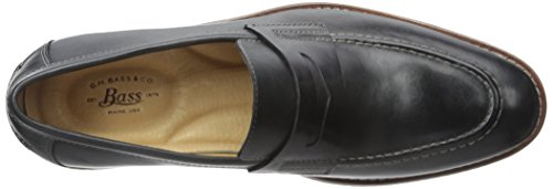 GH Bass & Co Conner Cuir Mocassin Black