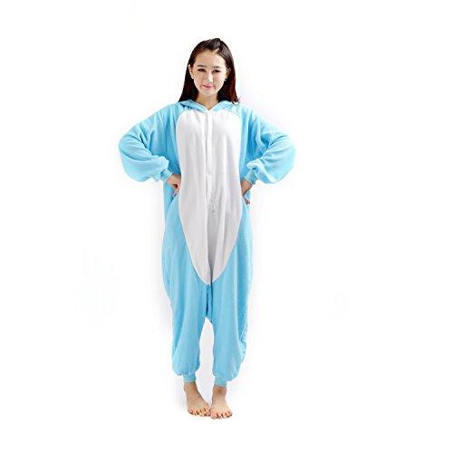 Imagen de darkcom  disfraz de animal unisex para adulto sirve como pijama o cosplay sleepsuit de una pieza azul koala alternativa