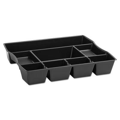 Schubladen-Organizer mit 9 Fächern, Kunststoff, 14 7/8 x 11 7/8 x 2 1/2, Schwarz - Organizer Rubbermaid Schublade