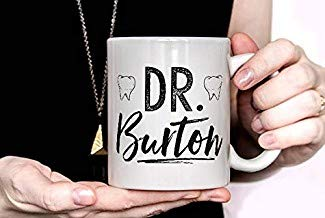 LECE Personalized Custom Dentist Mug, personalized dentist with name, dentist gift, new dental graduate