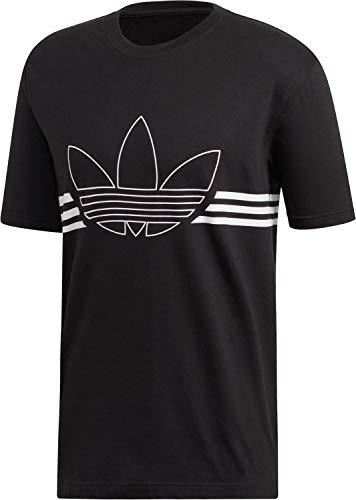 La Tee T-shirt (adidas Herren Outline TRF Tee T-Shirt, Black, L)
