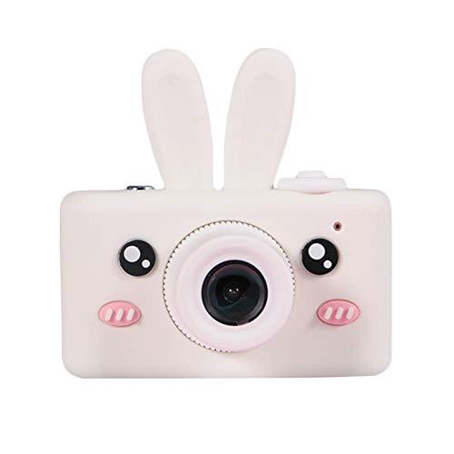 Ploufer Kinder-Mini-Digitalkamera, kleine Spiegelreflexkamera, 800W-Pixel, Gesichtserkennung, Fokus-Autofokus, Blitzlicht, sicher und gesund, abnehmbare Silikonhülle, bequemes Design Digitale Point-and-shoot-camcorder