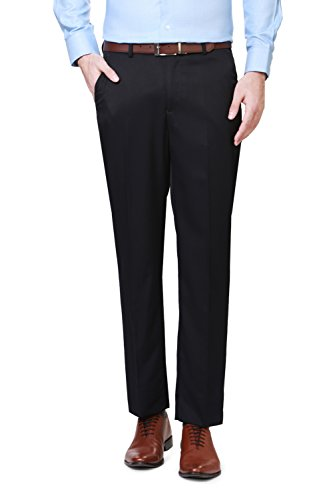 Peter England Navy Comfort Fit Trousers & Chinos_rtic26503_28