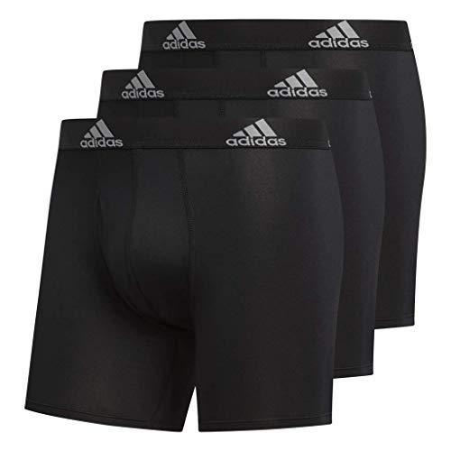 adidas Herren Sport Performance Climalite Boxer Slip (3er Pack) Unterwäsche, Herren, 51466, Black/Black Black/Black Black/Black, M -