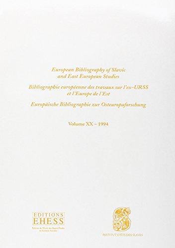 Bibliographie européenne des travaux sur l' ex-URSS et l'Europe de l'Est, tome 20