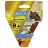 Norton Lot de 6 Triangles perfores 6 Trous auto agrippants Diamètre 95 mm Grain 120