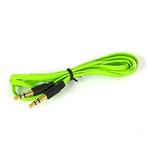 WARMTOWE 3,5 mm Flaches Aux-Kabel Audio Klinke Verlängerungskabel Stereo Rechtwinklige Kabel Klinke Premium Nudel Audio Aux-Kabel (Nudel-audio-kabel)