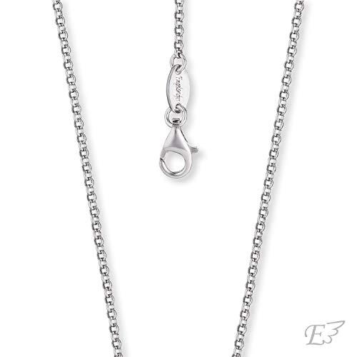 Engelsrufer® inkl. Giveaway - dezente Damen Halskette ohne Anhänger aus 925 Sterling Silber, einfache Frauen Schmuck Silberkette mit Karabinerverschluss, silberne filigrane Damenkette nickelfrei