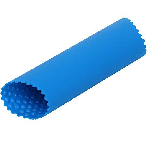TRIXES Silikon-Knoblauchschäler - Easy Roller Knoblauchschäler Knoblauchpresse - Silikon Küchenwerkzeug - Schält Knoblauchzehen in Sekunden ohne unangenehmen Geruch an den Händen - Farbe Blau