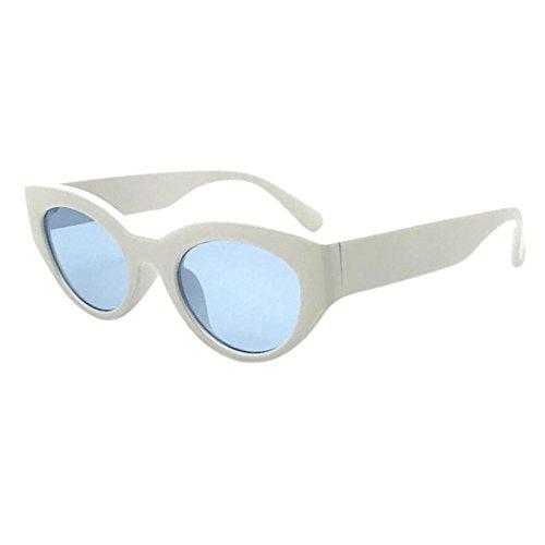 Dragon868 Unisex Retro Vintage Clut Goggles Unisex Sonnenbrille Rapper Oval Shades Grunge Brille,Brillen trends 2018, (A, Sonnenbrille)
