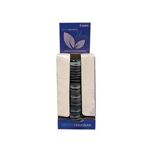 Rampi 20x Profumatore Deodorante per Cassetti Armadi Auto Scarpiere Blue Mediterranean per armadi tesuuti Capi Interni Ambienti igiene e fragranza