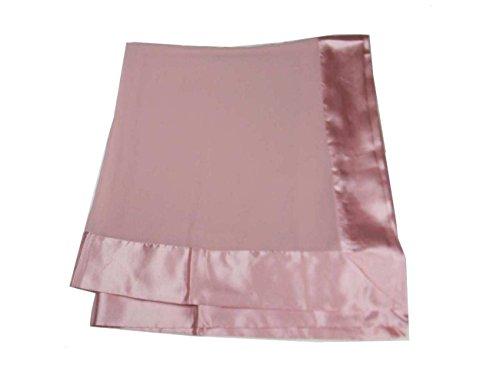 Avantgarde stola elegante bianca grigio argento beige nera rossa balza raso stole cerimonia (taglia unica, rosa tono cipria)
