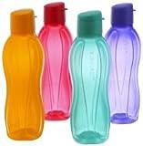 Tupperware Wasserflasche–1Liter coole Wasserflasche, Fliptop, 4er-Set