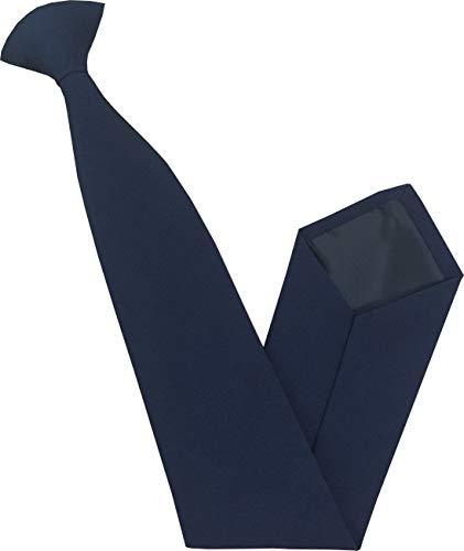 Herren Standard Clip auf Krawatten - Verschiedene Farben (Marineblau)