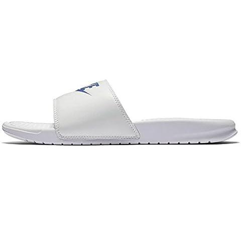 Nike Benassi JDI White Blue Mens Sandals 42.5