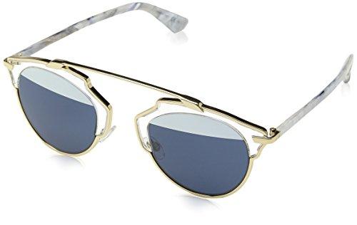 Dior Damen DIORSOREAL 90 1TL Sonnenbrille, Gold White Marble/Blwht Cn Coral, 48