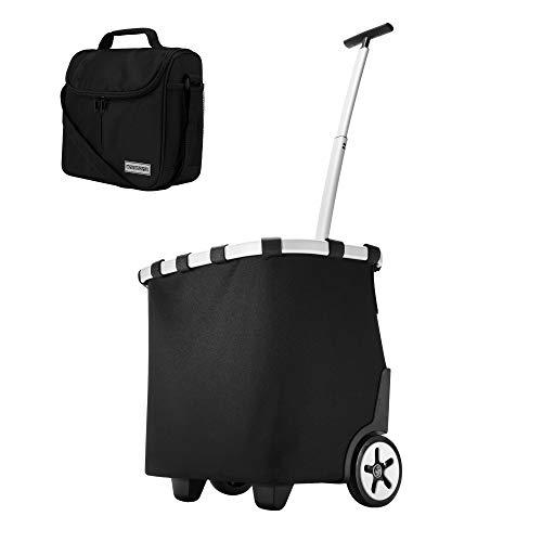 reisenthel carrycruiser Schwarz 40 Liter Einkaufstrolley + anndora Vesper Kühltasche