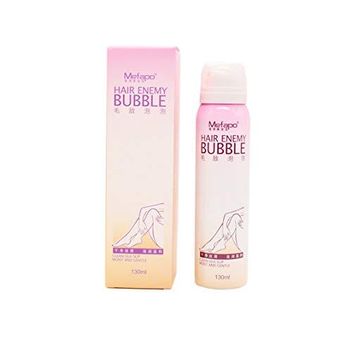 Hermosairis Natürliche Haar-Abbau-Creme für Männer u. Frauen-schmerzlose dauerhafte Haar-Abbau-Spray-leichte Bikini-Enthaarungs-Blase