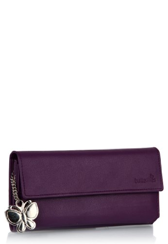 Butterflies Women's Wallet (Purple) (BNS 2055)