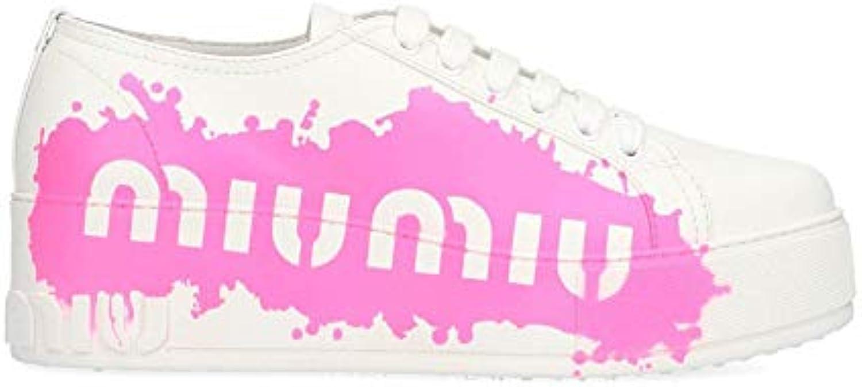 Miu Miu scarpe da ginnastica Donna 5E316C3KR1F0O8P Pelle Bianco | Moderno Ed Elegante A Moda  | Maschio/Ragazze Scarpa