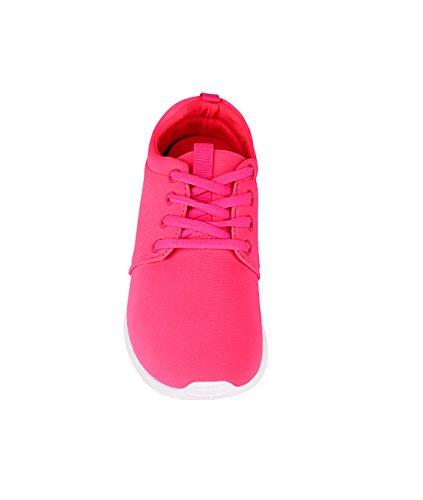 Krisp® Sneakers Da Donna Scarpe Sportive Rosa (16910)