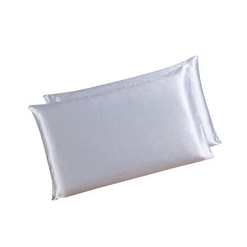 Coppia di 100% pura seta di gelso tessuto 19 Momme Charmeuse, doppio lato con federe (Seta Zipper)
