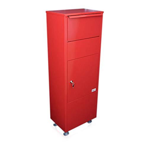Metz, Briefkasten/Paketkasten, groß, rot