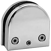 Soporte Abrazadera De Vidrio Glass Clamp Clip Conector Plano Pipa Curvado 4-8 mm Baño Ducha Terraza Barandilla Acero, Modelo:Modelo 2 - arco - 25 piezas