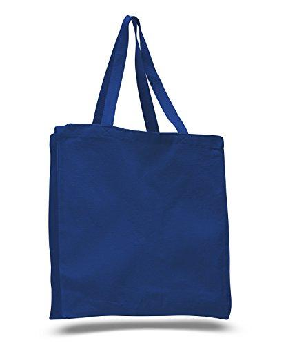 (12Pack) Set 12Heavy Canvas Tote Tasche mit Zwickel königsblau