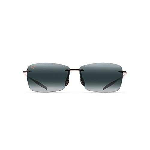 fb208617ced Maui Jim 423-02 423-02 Gloss Black Lighthouse Rimless Sunglasses Polarised  Golf