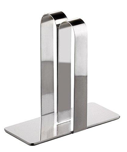 PROFI Tischkartenhalter aus Edelstahl für DIN A4 und DIN A5 Karten / 14 x 5,5 x 14 cm | SUN