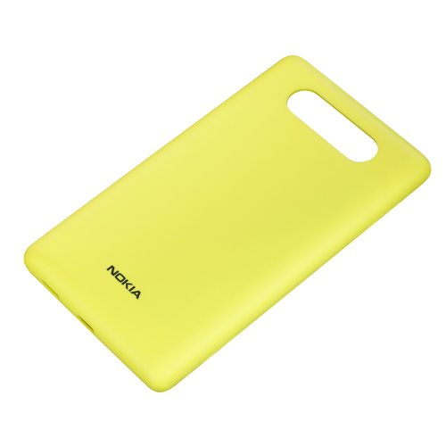 Nokia CC-3041 Wireless Qi Charging Clip-On Hard Shell Hülle mit Ladefunktion für Nokia Lumia 820 - Gelb