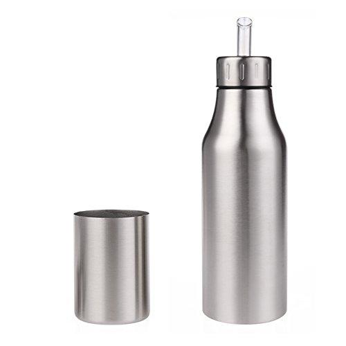 Dispensador de aceite y vinagre Aceite de acero inoxidable Aceite / vinagre / salsa Cruet Botella de aceite a prueba de fugas con vertido Herramientas de cocina e oliva Fashion leakproof Aceite Botel