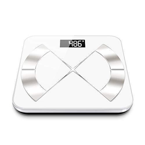 XZ Bluetooth Smart Body Fat Scale Elektronische Waage,White