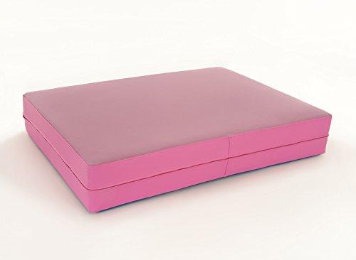 FLIXI Hüpfmatratze - ab 1 Jahre - Turn Matte für Kinder - Spiel Matratze zum Toben - Hüpfen - Balancieren Lavendel/Pink