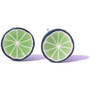 ☆ Limette ☆ fruchtige Ohrstecker ☆ Limettenohrstecker Limettenohrringe