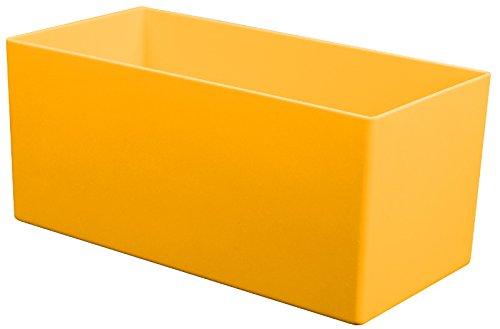 Kunststoff-Einsatzkasten 90 mm hoch, gelb, 198x99(LxB), für Schubladen ab 90 bis 100 mm Blendenhöhe, 1 VE = 25 St. (Farbe Kunststoff-lagerbehälter)