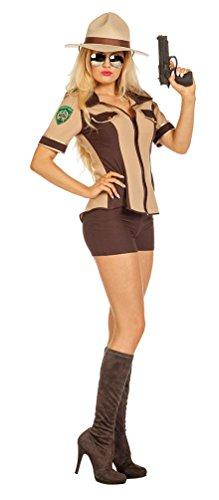Karneval-Klamotten Sheriff Kostüm Damen sexy USA Western Polizistin Damenkostüm Größe 38